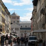 イタリアのアルト・アディジェ地方のトレントの街並み