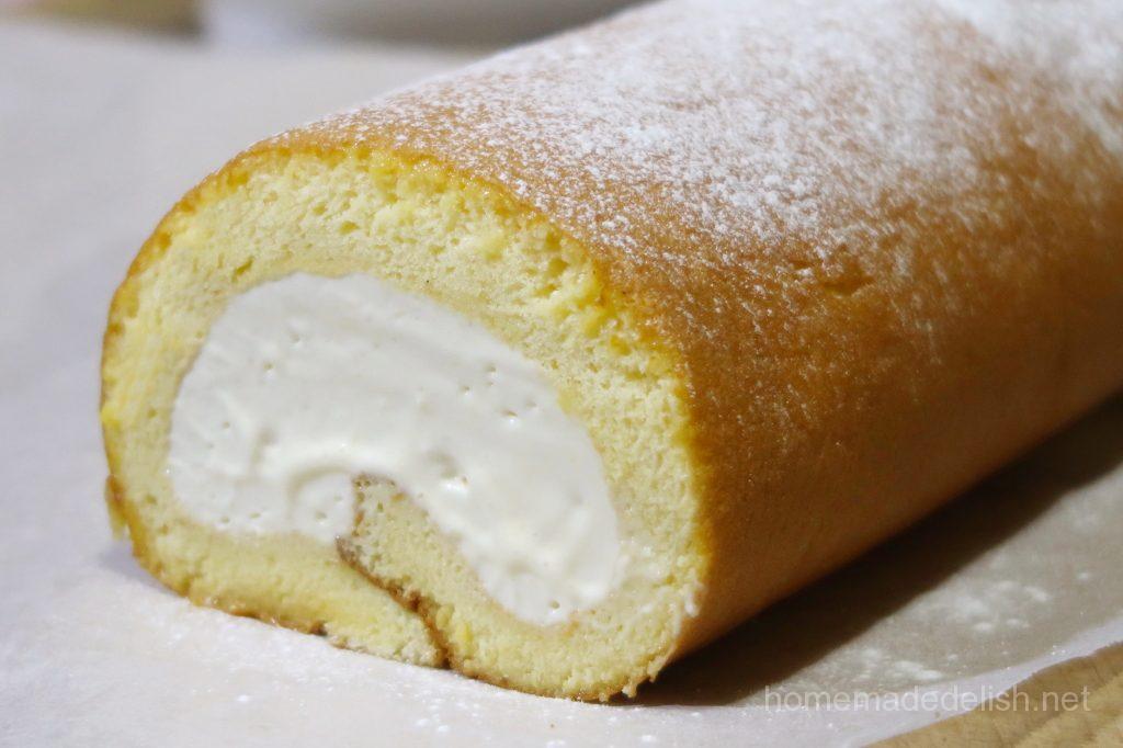 ホワイトチョコのロールケーキ