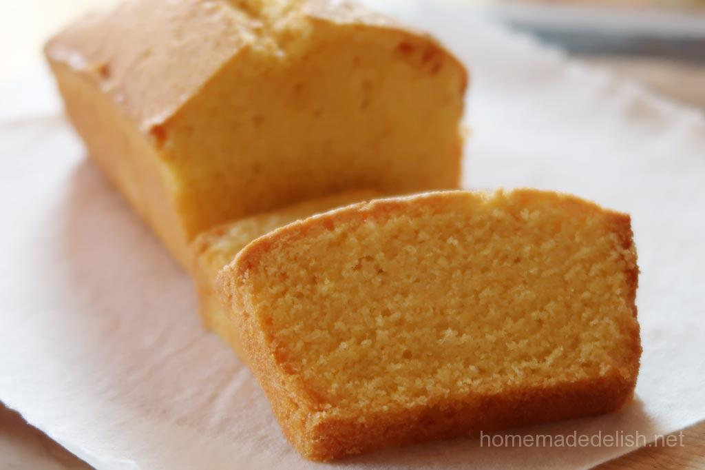 とうもろこし粉のパウンドケーキ