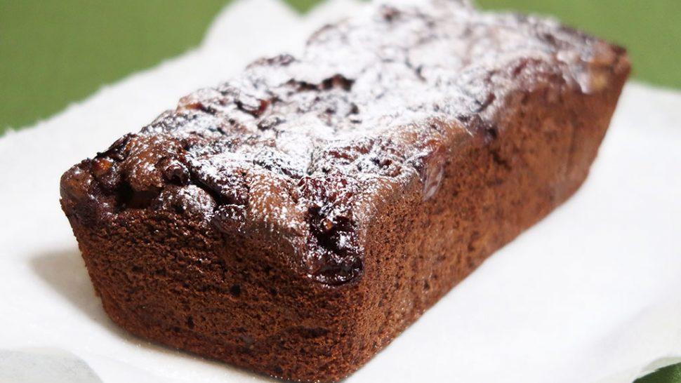 赤ワインとチェリーのチョコレートケーキ