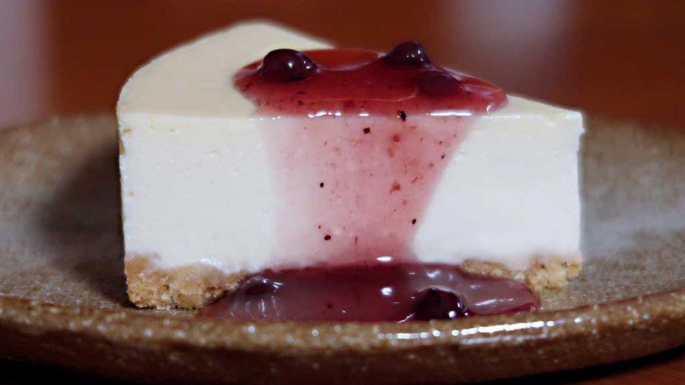 レアチーズケーキ風ベイクドチーズケーキ