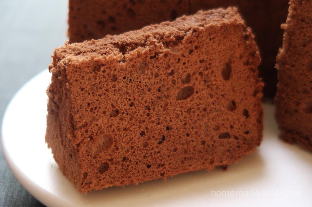 チョコレートのシフォンケーキ