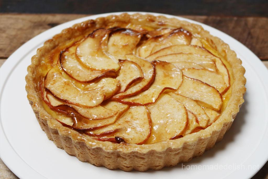 りんごとカスタードクリームのタルト