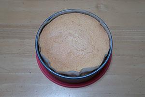 アーモンド風味のスポンジケーキのレシピ