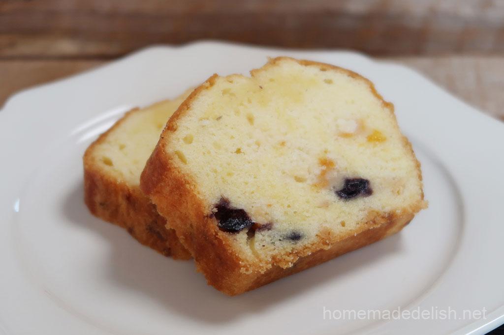 ブルーベリーとみかんのパウンドケーキ