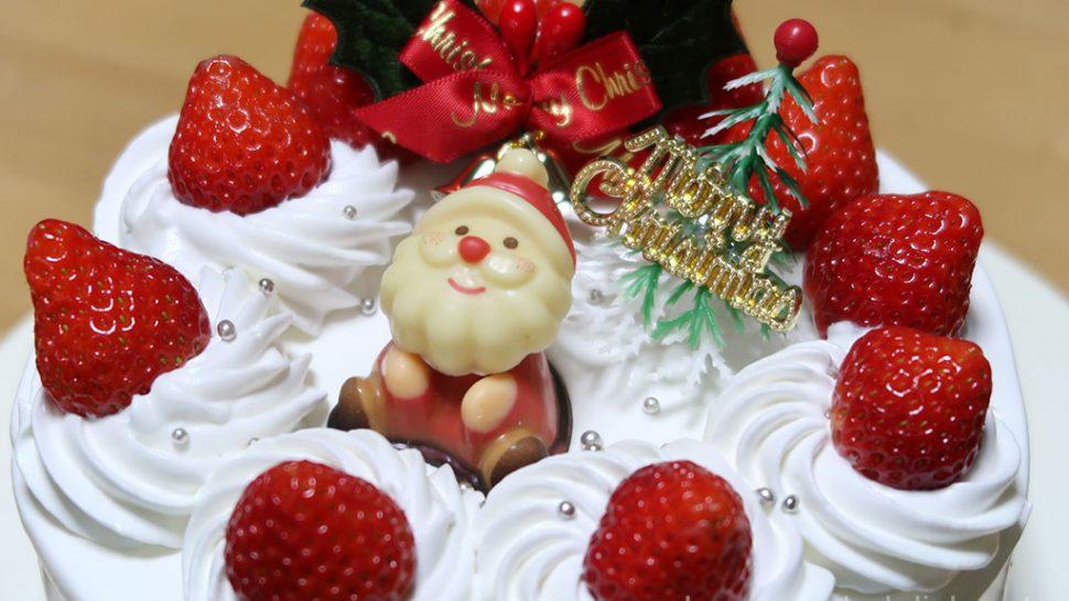 生クリームのクリスマスケーキ